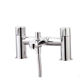 GoodHome Cavally Chrome effect Bath Shower mixer Tap