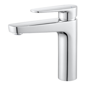 GoodHome Cavally 1 lever Chrome-plated Tall Modern Basin Mono mixer Tap