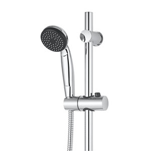 GoodHome Blyth Single-spray pattern Wall-mounted Chrome effect Without thermostat Shower