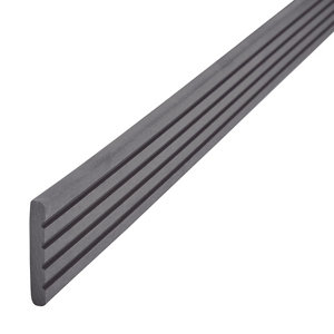 GoodHome Neva Solid Composite Finishing profile Anthracite (L)2200mm  Pack of 2
