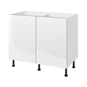 GoodHome Stevia White Base cabinet  (W)1000mm