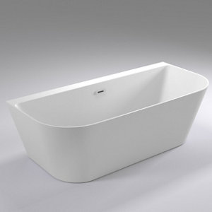 Cooke & Lewis Acrylic Left or right-handed Curved Freestanding Bath (L)1700mm (W)800mm