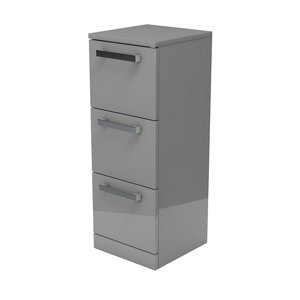 Image of Ardenno Gloss Grey Non-mirrored Cabinet (W)302mm