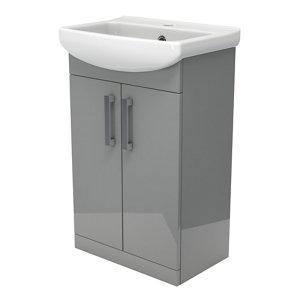 Image of Ardenno Gloss Grey Vanity unit & basin set (W)550mm