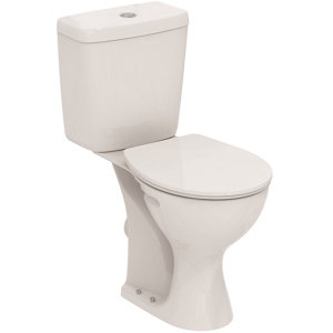Image of Armitage Shanks Sandringham 21 Raised Height Contemporary Close-coupled Boxed rim Toilet set with Soft close seat