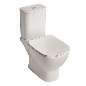 Ideal Standard Tesi Contemporary Close-coupled Rimless Toilet set with Soft close seat