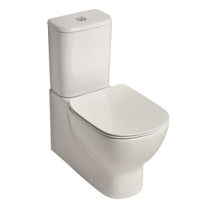 Ideal Standard Tesi Contemporary Back to wall close-coupled Rimless Toilet set with Soft close seat