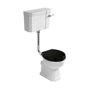 Image of Ideal Standard Waverley Low Level Traditional High-low Boxed rim Toilet & cistern with Standard close seat