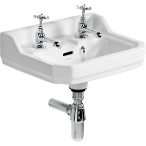 Image of Ideal Standard Waverley D-shaped Wall-mounted Cloakroom Basin