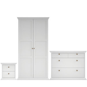 Image of Isabella Matt white 3 piece Bedroom furniture set