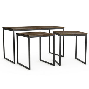 Image of Atico Dark stained wood effect Coffee table & side table