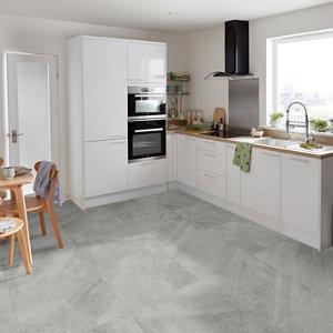Manhattan Grey Matt Stone effect Porcelain Wall & floor Tile  Pack of 3  (L)600mm (W)600mm