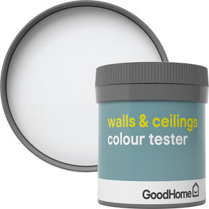 GoodHome Walls & ceilings North pole Matt Emulsion paint  50ml Tester pot