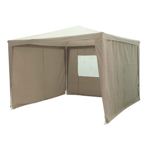Image of Blooma Jarvis Beige Square Gazebo (W)3m (D)3m