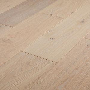 Image of Agung Vintage grey Oak Real wood top layer Flooring Sample
