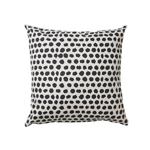 Image of Denia Spotted Black & off white Cushion