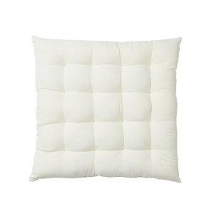 Image of Denia Off white Plain Seat pad