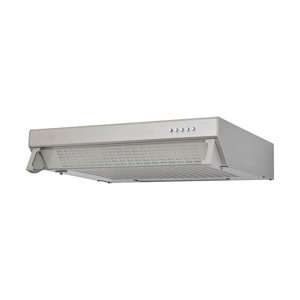 Cooke & Lewis CLVHS60A Stainless steel Visor Cooker hood  (W)60cm