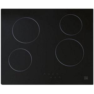 Cooke & Lewis CLCER60A 4 Zone Black Glass Ceramic Hob  (W)590mm