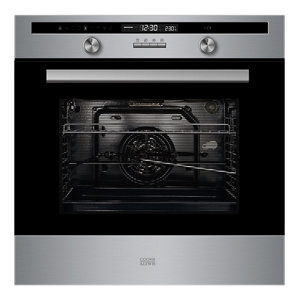 Cooke & Lewis CLPYSTa Black & grey Built-in Electric Single Pyrolytic Oven