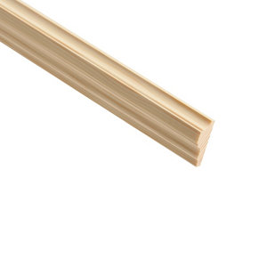 Image of Decorative Natural Pine Moulding (L)2.4m (W)32mm (T)12mm