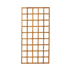 Image of Forest Garden Traditional Square Dip treated Trellis panel (W)0.91m (H)1.83m