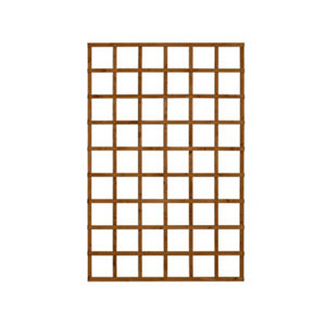 Image of Forest Garden Traditional Square Dip treated Trellis panel (W)1.2m (H)1.83m