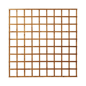 Image of Forest Garden Traditional Square Dip treated Trellis panel (W)1.83m (H)1.83m