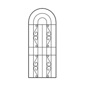 Image of Arched Trellis panel (W)0.6m (H)1.5m