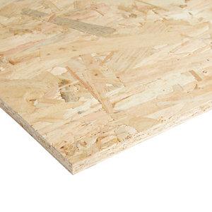 Natural Softwood OSB 3 Board (L)0.81m (W)0.41m (T)12mm