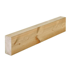 Round edge Whitewood spruce C16 Stick timber (L)3m (W)95mm (T)45mm