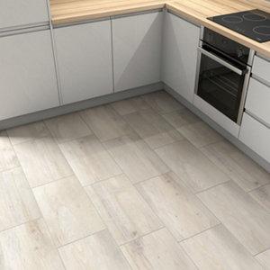 Norwegio Beige Matt Wood effect Ceramic Wall & floor Tile Sample