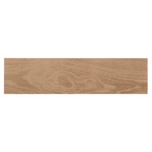 Pine wood Natural Matt Wood effect Porcelain Wall & floor Tile Sample