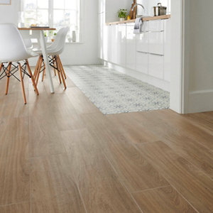 Image of Antic rustic Natural Matt Wood effect Porcelain Floor Tile Sample