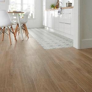 Image of Antic rustic Natural Matt Wood effect Porcelain Floor Tile Sample