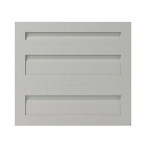 GoodHome Garcinia Matt stone integrated handle shaker Drawer front (W)800mm  Pack of 3