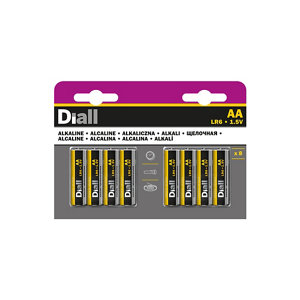 Image of Diall Alkaline batteries Non rechargeable AA (LR6) Battery Pack of 8