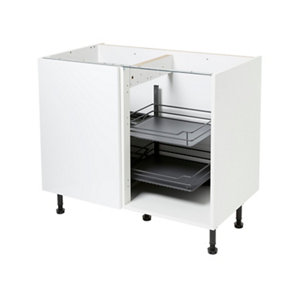 Image of GoodHome Pebre Matt Anthracite Soft-close LH Pull out storage (H)639mm (W)855mm