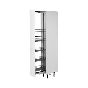 Image of GoodHome Pebre Matt Anthracite Soft close runners Universal Pull out storage (H)2155mm (W)250mm