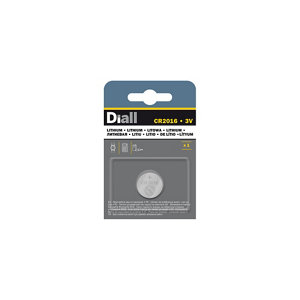 Image of Diall Lithium batteries Non rechargeable CR2016 Button cell battery