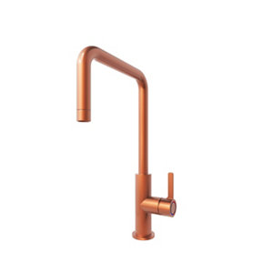 GoodHome Kamut Copper Copper effect Kitchen Side lever Tap