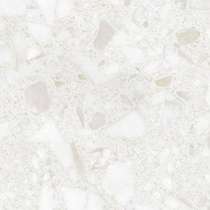 Image of GoodHome Algiata Matt Marble effect White Worktop edging tape (L)3m