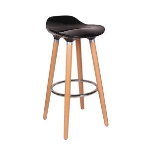 Image of Cooke & Lewis Shira Black Bar stool