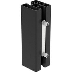 Image of GoodHome Alara Black Room divider post extender (H)0.13m (W)0.04m