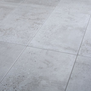Reclaimed Grey Matt Concrete effect Porcelain Wall & floor Tile  Pack of 6  (L)600mm (W)300mm