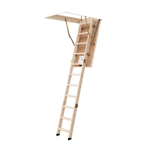 Image of 3 section 12 tread 26mm insulated hatch Folding Loft ladder kit