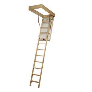 Mac Allister 3 section 12 tread Folding Loft ladder kit