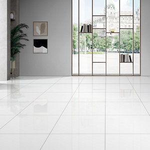 Latinie White Gloss Porcelain Wall & floor Tile  Pack of 3  (L)600mm (W)600mm