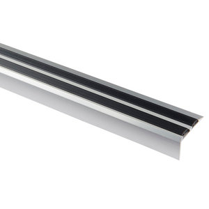 Image of GoodHome Aluminium Step protector (L)900mm (W)40mm