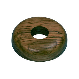 Image of GoodHome DECOR 215 Wooden Dark brown Pipe collar (Dia)16mm Pack of 2